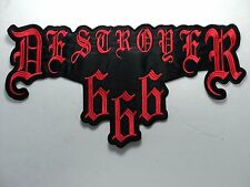DESTROYER 666 RED LOGO EMBROIDERED BACK PATCH