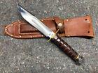 Marbles pilot knife gladstone mich usa vintage survival w sheath stone 16