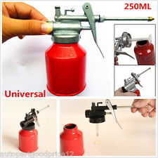 1x Red Universal 250ml Metal High Pressure Pump Oiler Oil Can Gun For Lubricants