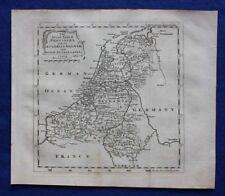 Original antique map NETHERLANDS, 'SEVEN UNITED PROVINCES', T. Jefferys, c.1756
