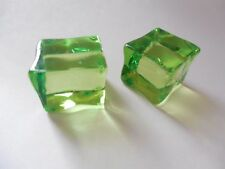 "Lot of 2 GREEN Gelatinous Cube D&D Dungeons Dragons Pathfinder 3/4""x15/16"""