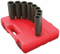Sunex 2851 Tools 12-piece 1/2 In. Drive Extension Long/deep Impact Socket Set