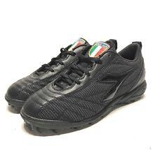Diadora Mens Size 7 FIGC AIA Italy Turf Soccer Cleats Black 2006 Deadstock Rare