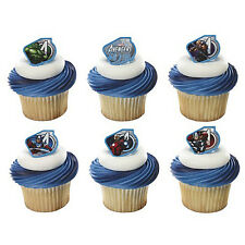 Avengers 25 pcs Cupcake Rings Birthday Favors Prizes Bag Fillers Party Supplies