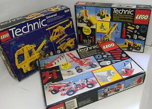 lego technic sets 8034 8040 8055 - modèle vintage, pneumatique,moteur électrique