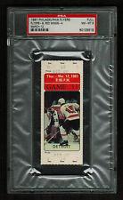 PSA 8 MIKE PALMATEER NHL Hockey Full Unused Philadelphia Flyers TICKET