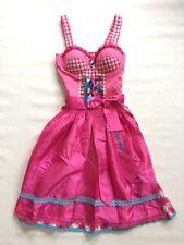 Stockerpoint Dirndl Perla pink 32 34 Tracht Kleid Wiesn rosa Midi Karo türkis XS