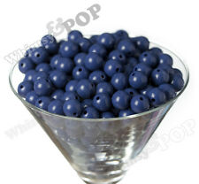12mm - 50pcs Royal Blue Gumball Beads Bubble Gum Spacer Small Chunky US Seller