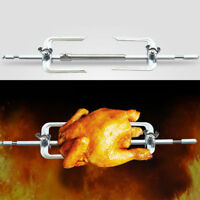 Rotate Stainless Steel Barbecue Sticks Skewers Oven Spin Roasting Fork Chicken