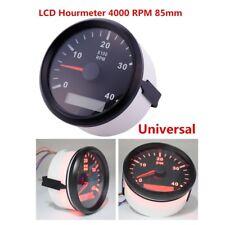 Câble de compteur jauge LCD Tacho Hour Meter 9-32 V 0-4000 tr/min Diamètre 85 mm Marine Voiture