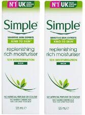 2 x Simple 12hr Replenishing Rich Moisturiser  - Rich  (2 x 125ml)
