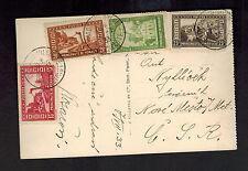 1933  Monte Carlo Monaco RPPC postcard Cover to Czechoslovakia Casino BEach