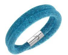 Swarovski 3D Stardust Blue Double Bracelet Size S Crystal Authentic MIB 5139744