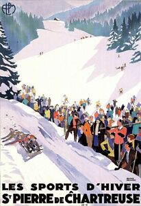 Les Sports D'Hiver St Pierre de Chartreuse Ski Skiing Classic  Art Poster Print