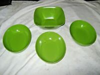 A Lot of 4 Green 1960's Retro Vintage Australian Melmac Ornamin Ware Bowls