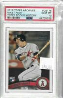 Mike Trout 2018 Topps Archives rookie history PSA 10 -- Angels