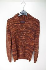 TRUSSARDI sz S ? KNITTED WOOLEN SWEATER JUMPER V-NECK MENS CHUNKY KNIT WINTER