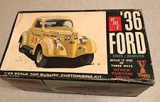 Vintage AMT 36 FORD Coupe / Roadster Model Kit - 2336-200 Stock Custom Drag 3way