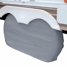 "OverDrive RV Trailer Dual Axle Wheel Cover Grey XLarge 30"" - 33"" Wheel Diameter"