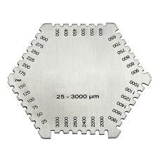 Wet Film Comb Gauge 25-3000um, Stainless Steel