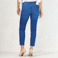 LAUREN CONRAD Retro Vented Skinny cargo mid rise Jeans true blue 2 6 10 NEW