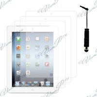 3x Films protection protecteur écran mini stylet  IPAD 4 3 2 Nouvel iPad Retina