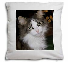 Beautiful Tabby Cat Soft Velvet Feel Cushion Cover With Inner Pillow, AC-10-CPW