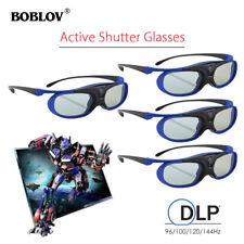 4x JX-30 3D Active Shutter Glasses DLP-Link USB Blue For BenQ W1070 W700 W710ST