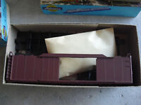 Vintage HO Scale Athearn Brown Double Door Box Car Kit in Box