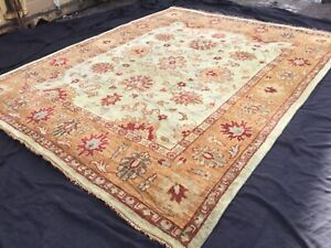 TAJ AGRA,  12 x 9', BRAND NEW,  HAND-KNOTTED, THICK, WOOL RUG...FREE DELIVERY.
