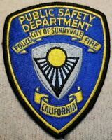 CA Sunnyvalle California Police/Fire Public Safety Patch