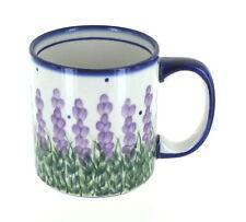 Blue Rose Polish Pottery Lavender Fields Coffee Mug