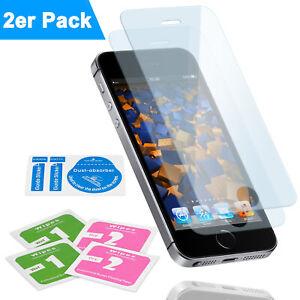 2x Panzerfolie Hartglas Glas iPhone 5 5S SE 6 6S 7 8 Plus Schutzfolie Glasfolie