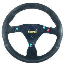 Genuine Sparco black suede steering wheel. BTCC 2001 Vauxhall Motorsport.   8D