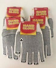 24 Pairs White/Black Work Garden/Latex Hand Gloves-W Crinkle-Unisex-One Size