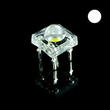 10 x White Piranha 5mm Super Flux LED Bulb