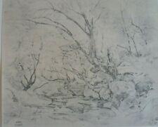 CAMILLE COROT ( 1796-1875 ) GRAVURE FAC SIMILE PROCEDE DANIEL JACOMET 1966