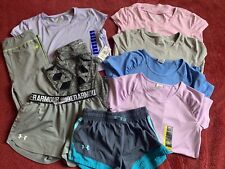 Lot of 9 Girls Clothes Size 10/12 (M) 14/16 (L) Under Armor, Athletic