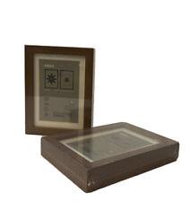 "Ikea RIBBA 5""x7"" Silver Box Photo Frame Freestanding NEW SEALED"