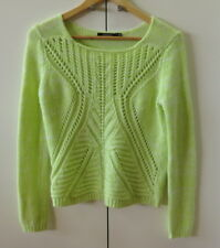 Stylish Soft Bright Green/Yellow Knit Jumper from Portmans - Size S