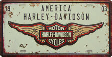 Blechschild:  AMERICA Harley-Davidson LOGO RETRO-Blechschild ca. 15x20cm NEU