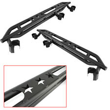 07-16 Jeep JK Wrangler 4 Door ONLY Step Armor Rock Sliders Rocker Guard Nerf Bar