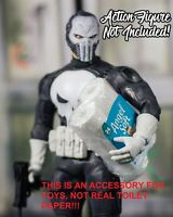 MINIATURE Wrapped Toilet Paper Rolls Props ONLY Marvel Legends, Mezco 1/12
