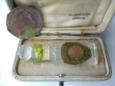 Antique Miniature Cased H. BRONNLEY & CO LTD Perfume / Scent Bottle & Dropper