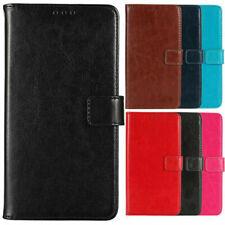 Zubehör Premium Flip Leder Tasche Cover Case Handy Hülle Etui Für Smartphone neu
