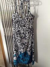 monsoon women's halter tie neck a line dress sz 8 v g cond