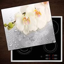 Herdabdeckplatten aus Glas Spritzschutz Orchidee - 60x52 cm