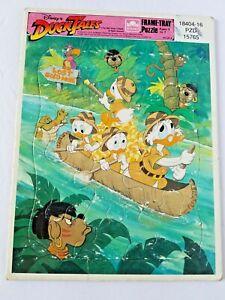 Disney Duck Tales Frame-Tray Puzzle Cardboard Golden Vintage