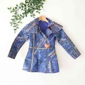 Disney Girls' Rock & Roll Princess Snow White Zip Front Faux Leather Jacket 5/6