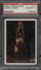 *READ Description 2003 Topps Chrome LeBron James ROOKIE #111 PSA 10 🚨REPACK🏀🔥